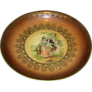 Small Plate, marked Bavaria china, hand touched over transfer, porcelain