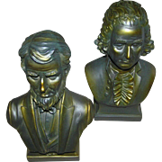 Pair of Presidential still banks, Washington, and Lincoln