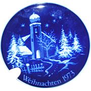Weihnachten plate 1973, excellent, no box