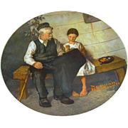 The Lighthouse Keeper and his daughter collector plate after Norman Rockwell, Knowles, limited edition