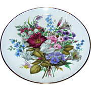 Bone China painted  plate with a floral motif, Exc.