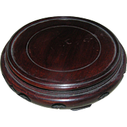 Oriental wooden base in mahogany for underenath a bowl!