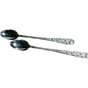 Iced Tea spoons [2], Narcissis, National Silver Co., no monogram