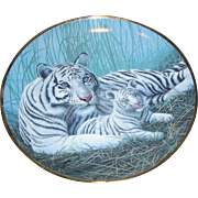 White Tigers by Michael Matherly, G 1995, The Franklin Mint, exc.