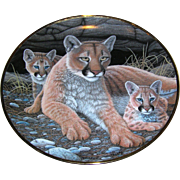 Franklin Mint, Collector's plate, Mountain Lion, limited edition F3395
