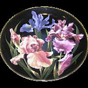 Iris Plate, collectors plate:no. B6393, Mint, no box