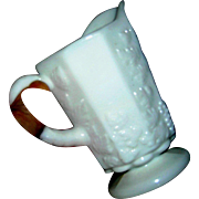 Vintage Westmoreland pitcher, grape and vine, milk glass