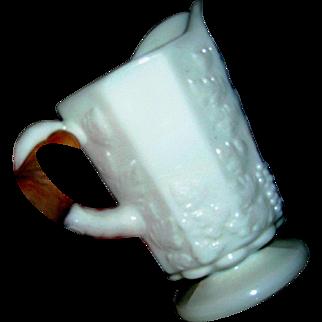 Westmoreland Milk Glass pitcher, grape and vine
