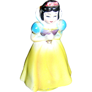 Cinderella ceramic figurine, with original stamps, Wales, Made in Japan, 1960, VG!