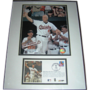 Baseball Memorobilia, Cal Ripken Jr., Poster with Canceled Stamp, 1998, not autographed, original packaging and never opened