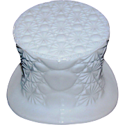 Milk Glass Hat Dish