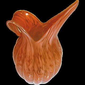 Vintage Murano glass pitcher hand blown