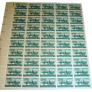 US Stamps, sheet, Minnesota Tersentennial, 3 cent, green