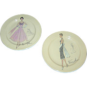 Plates, pair, LaMode and Tres Chic by Rosanna, made in Italy
