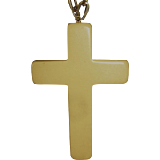 Bakelite cross or crucifix necklace with chain