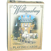 Deck of Cards, Colonial Williamsburg, complete, Bicast Williamsburg VA