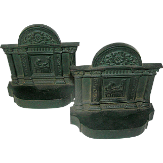 Cast Iron Bookends of a  Grecian Girl