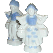 Vintage salt & pepper shakers Dutch Boy and Girl water carriers