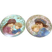Vintage Mother's Day Decorative Wall plates, Knowles 1987 & 1988