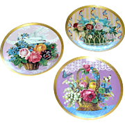 Vintage Set of plates Gloria Vanderbilt-love, courtship, and passion