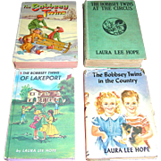 Set of four Bobbsey Twins books by Laura Lee Hope