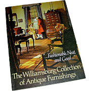 Vintage book, The Williamsburg Collection of Antique Furnishings, Colonial Williamsburg Foundation, 1973