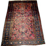Vintage Hamadan Oriental rug, approximately 6.5' x 3.5'