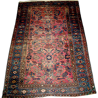 Vintage Hamadan Oriental rug, approximately 6.5' x 3.5'