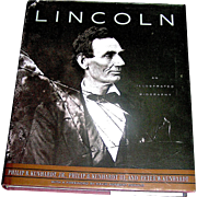 Vintage Book Lincoln An Illustrated Biography, Phillip B. Kunhardt. Jr. the Third, and the father, 1992