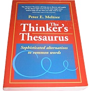 Vintage Book, The Thinking Man's Thesaurus, exc!