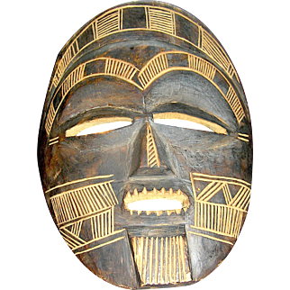 Vintage tribal mask from Africa