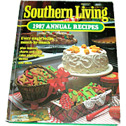 Vintage book, cookbook, Southern Living 1987