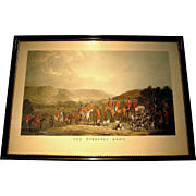 Antique engraving, The Wynnstay Hunt in the original Westminster frame, 19th c.