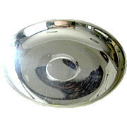 Very wide, shallow, silver-plate bowl, 13 inches, mid 20th c.