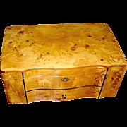 Vintage Bird's eye maple box, mid 20th c.
