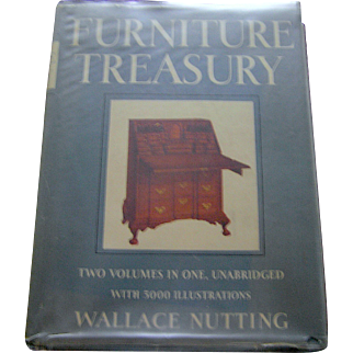 Vintage book, Furniture Treasury, Wallace Nutting, 2 volumes in one, 1961