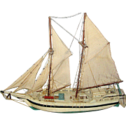 Vintage Schooner Sailboat, hand built with fore and aft rigging used on Grand Banks and coastal lumber trade