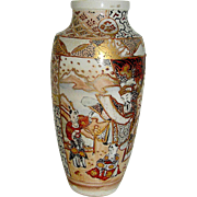 Vintage Satsuma vase, early 20th c. bordering on the Meiji period.