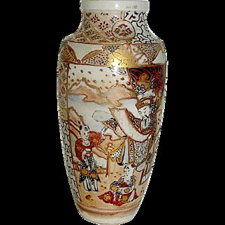 Vintage Satsuma vase, early 20th c. bordering on the Meiji period.