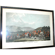 Vintage Print of  a very early strike of the Wynnstay Hunt after W.T. Davey