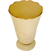 Lenox vase with rose motif, mid century