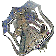Vintage Boy Scout pin in the shape of a shield