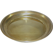 Vintage round brass tray for a scale