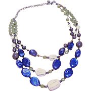 Vintage necklace by CHICO'S - variated beads, plastic, steel, and copper!