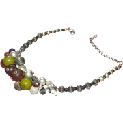 Stunning Chico's necklace in a cluster of assorted beads!