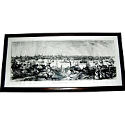 Offered is a detailed photograph printing of View of Baltimore From Federal Hill, by board of trade 1837 after a litho.  A. Hoen.