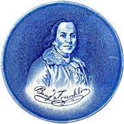 Vintage Wedgwood Coaster depicting Benjamin Franklin