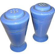 Vintage fiesta blue salt and pepper shakers, excellent