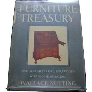 Vintage book Early American- Furniture Treasury Wallace Nutting, 1961