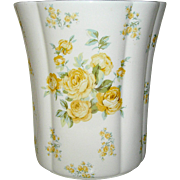 Vintage Laura Ashley vase with yellow roses